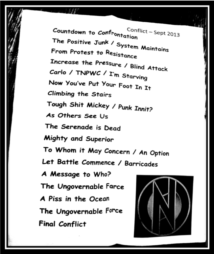 conflict setlist