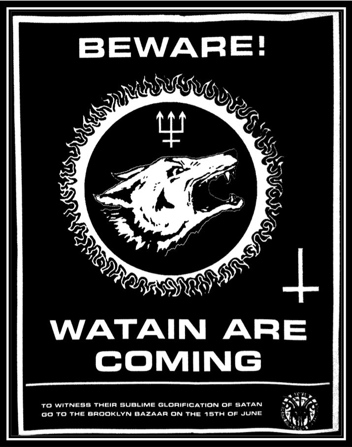 watain flyer