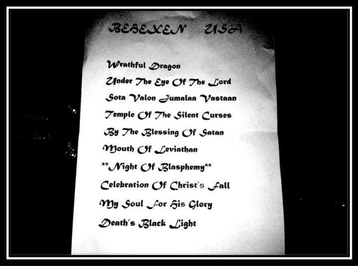 behexen setlist